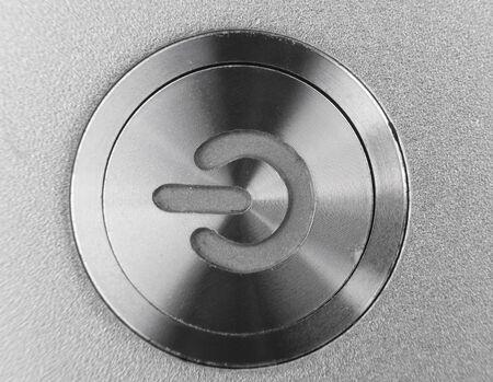silver color computer power button Stock Photo - 17448211