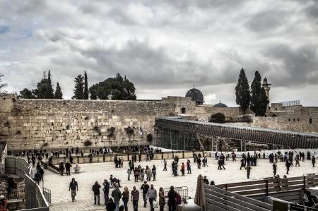 Jerusalem jestern wall with cloudy skyes