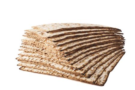 pesaj: Matzot para Pesaj aislado en fondo blanco