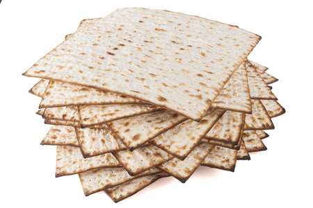 matzoh: Matzot for pesach isolated on white background