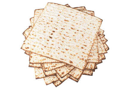 matzot: Matzot for pesach isolated on white background