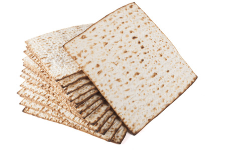 matzos: Matzot for pesach isolated on white background