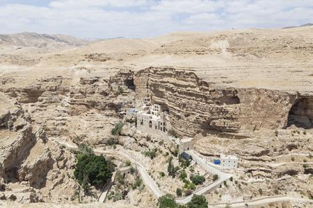 judean desert: Saint Geroge monastery in the judean desert Stock Photo