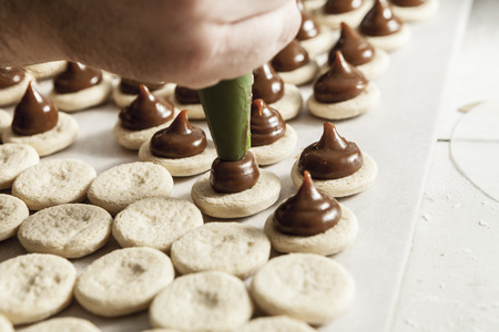 biscuit factory: Making sweets with a lot of chocolate