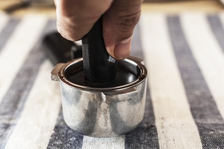 espreso: Preparing pot to do a delicious coffee