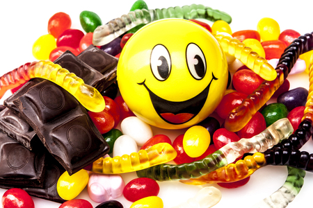 jellybean: Sweets isolated on white background with shadow
