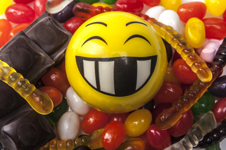 jellybean: Happy emoticon and a lot of sweets