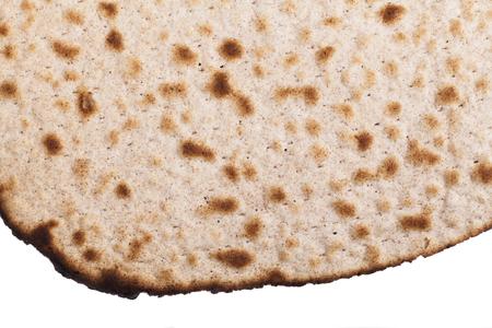Round Matzah Shmura Saved Jewish Pesach Tradition Close-up
