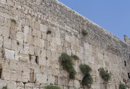 The wailing wall kotel with blue sky