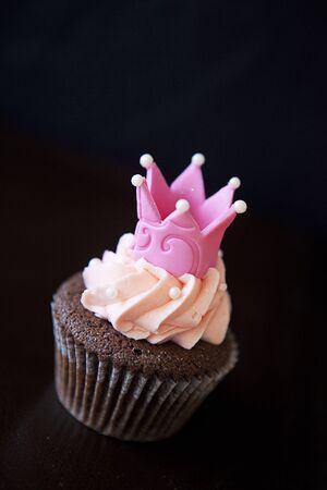 Princess Cupcake on Black photo