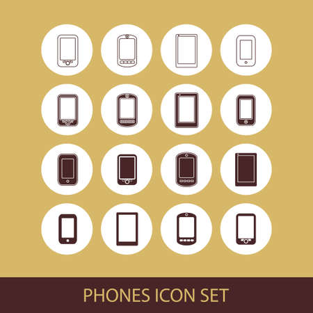 touchpad: phone icon set