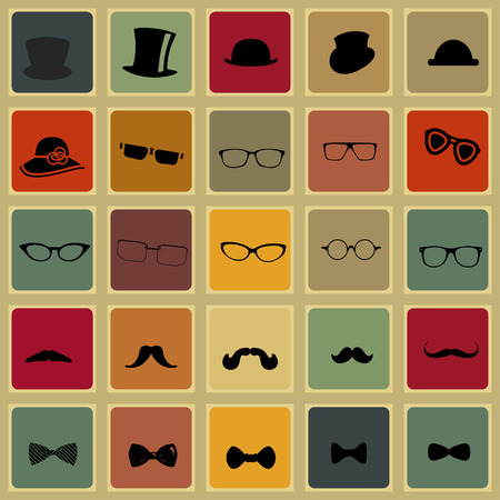 sir: Hats glasses  mustaches and tie bows