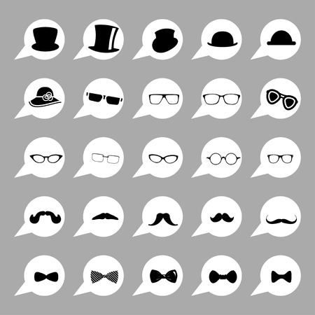 mustaches: Hats glasses  mustaches and tie bows