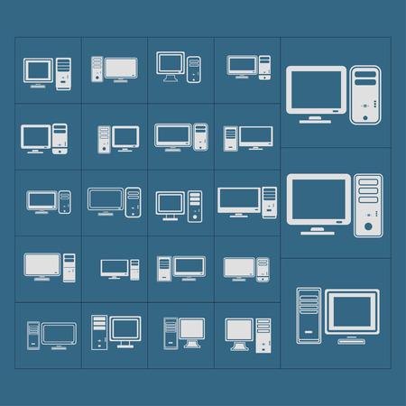 tv unit: computer icon set