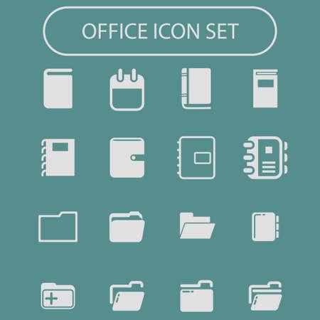 office vector icon set Vector