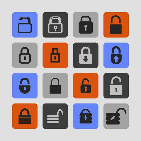 coded: locks vector icon set