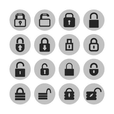 locks vector icon set