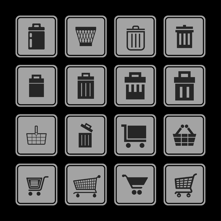 Store vector icon set Vector
