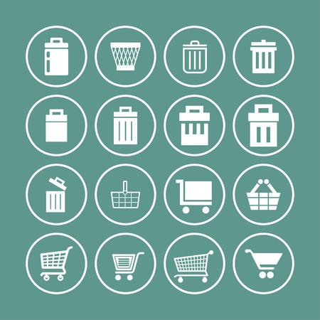 retailers: store vector icon set