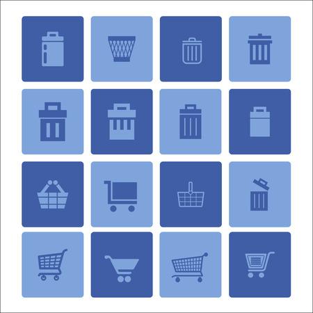 trashcan: store vector icon set