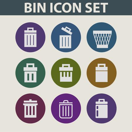 trashing: bin cevtor icon set