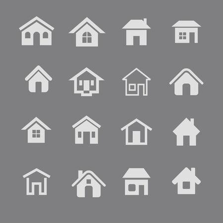 realstate: house icon set