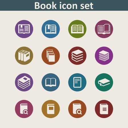 e reading: book icon set