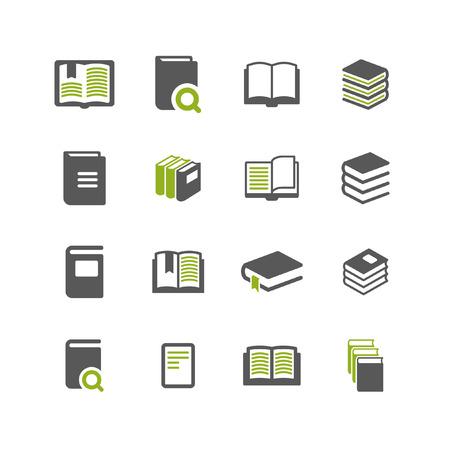 本のアイコンを設定  イラスト・ベクター素材