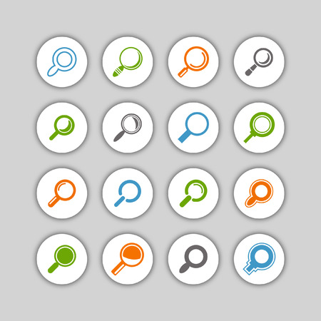 search icon set Vector