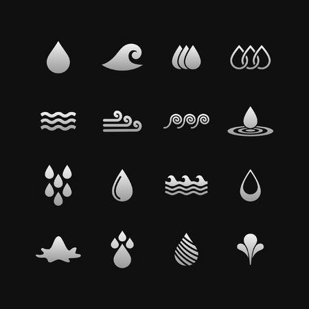 water: water icon set Illustration