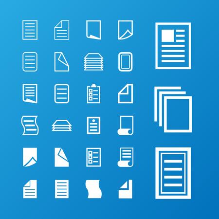 papel de notas: documento conjunto de iconos