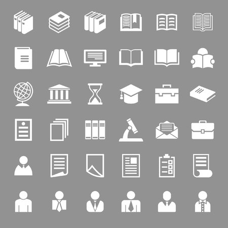 education icon set Vector