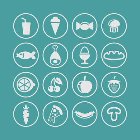people icon: food icon set