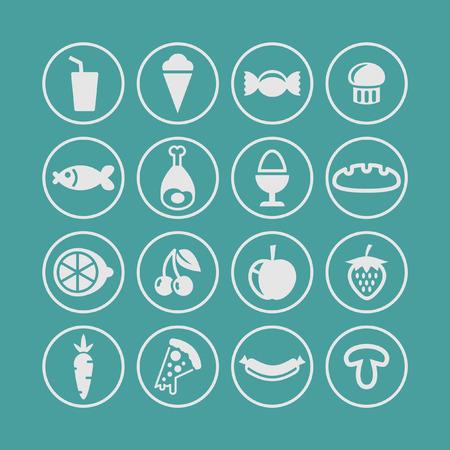 icon set: voedsel icon set