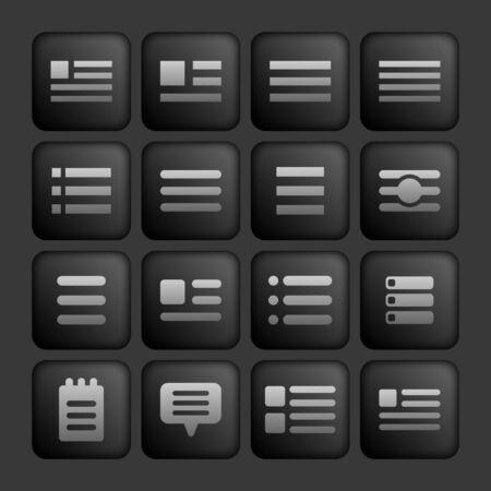 menu icon set Vector