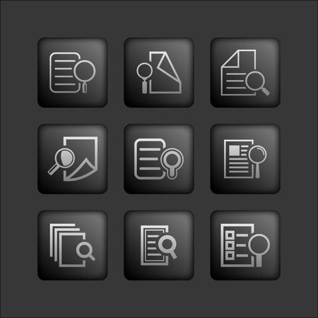 document icon set Vector