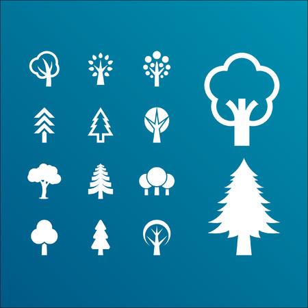 arbol de pino: Trees icon set