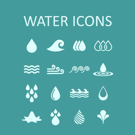 water icon set Ilustração