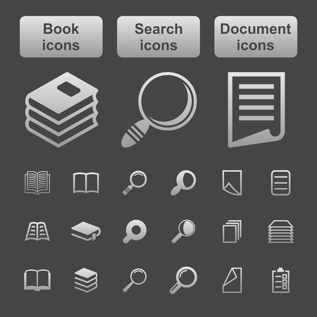 documents: web icon set