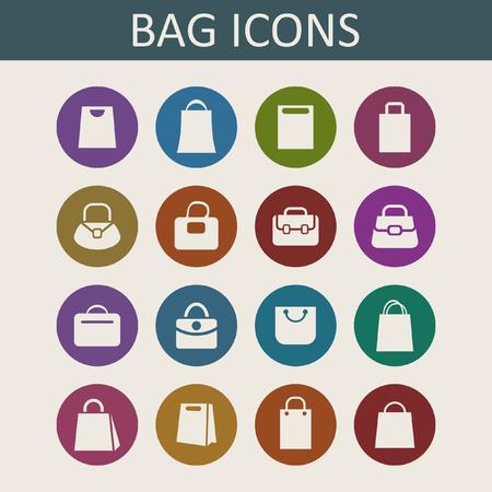 bag icon set Illustration