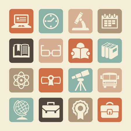 teaching music: school icon set