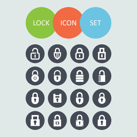 locks icon set Vector