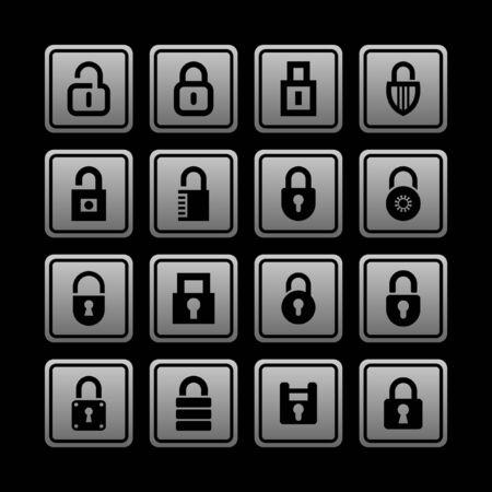 locks icon set Vector