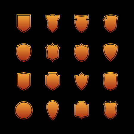 shield icon set Illustration