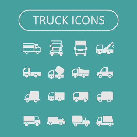 moving truck: truck icon set Illustration