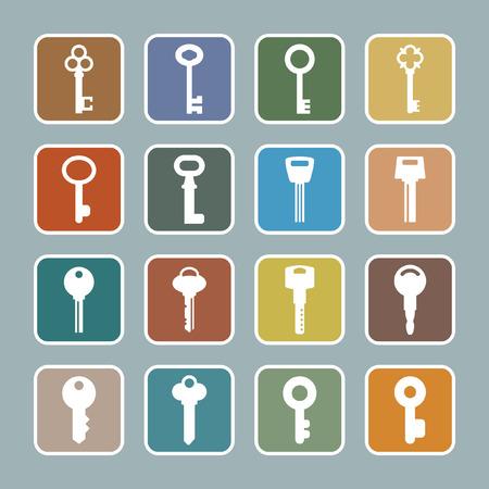 keyring: key icon set
