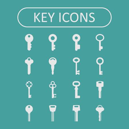 skeleton key: key icon set