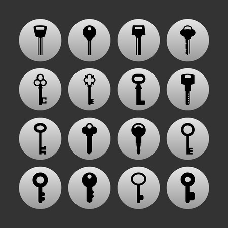 Keys: key icon set