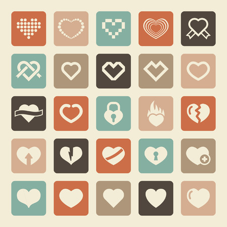 love concepts: heart icon set