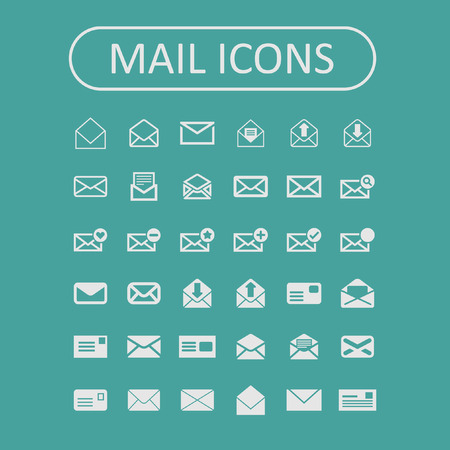 select all: mail icon set